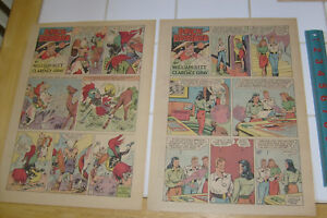 BRICK BRADFORD, 13 TABLOID SUNDAY FULL PAGES from 1945 & 1946