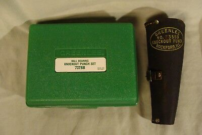 2 Greenlee Ball Bearing Knockout Punch Sets With Cases 737bb 735bb