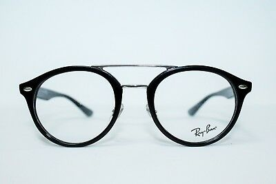 NEW RAY BAN RB5354 2000 BLACK ROUND AUTHENTIC EYEGLASSES RX5354 RX 50-21-145 MM