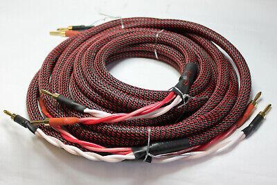 Dynavox Perfecto Sonido Cable de Altavoz 2x 2M Confeccionado-1 Stereo-Set