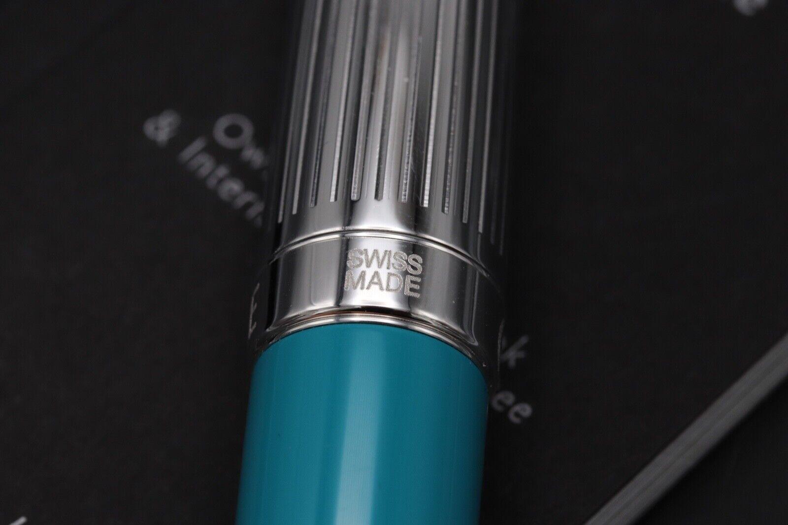 Caran d'Ache Leman Bicolor Turquoise Fountain Pen 6