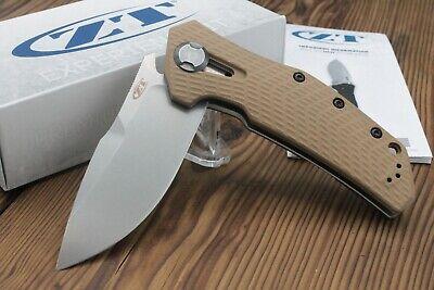 "Zero Tolerance 0308 Flipper Knife Coyote G10 (3.75"" Stonewash) ZT"