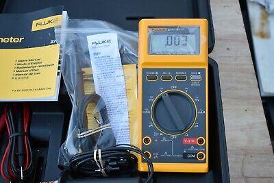 Fluke 27 Multimeter W Hv Probe 80k-6 80k-40 Fluke 85 Rf Ac Probe And Leads