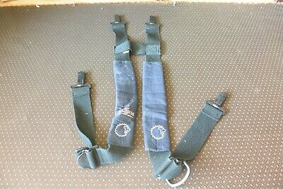 Lion Firefighter Suspenders Turnout Bunker Pants Blackblue Strap Adjustable