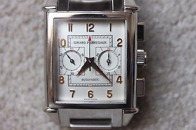 GIRARD PERREGAUX VINTAGE 1945 CHRONOGRAPH --- WHITE GOLD ---25990-6-53-1151