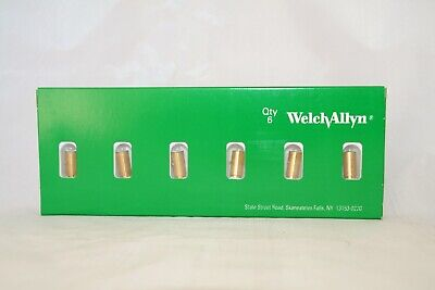 Welch Allyn 04900-u6 3.5 Halogen Lamp Bulbs Box Of 6 04900