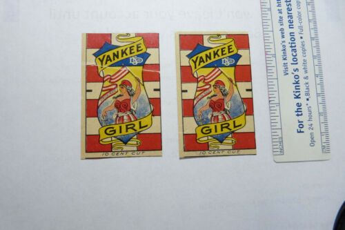 """LOT of 2 """"Unused"""" YANKEE GIRL- EARLY PAPER TAGS  LOOK QjQ WOW!"""