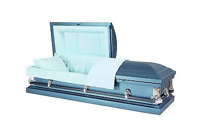 Brand New Caskets For Burial -  Optima Blue