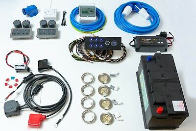 Complete Camper/Race Van Electrical 12V & 240V Wiring Conversion Kit - Hook-up