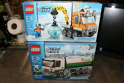 LEGO City Sets 60033 60016 Arctic Ice Crawler and Tanker Truck