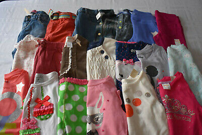 USED 21 PC. LOT OF BABY GIRL CLOTHES 24 MONTHS/2T EUC/VGUC