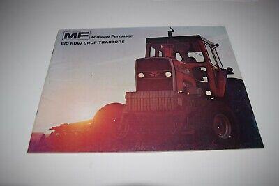 Massey Ferguson Big Row Crop Tractors Brochure Mf1105 Mf1085 Mf1135 Mf1155
