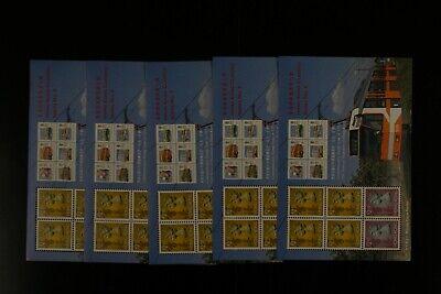 HONG KONG #651a 1992 CLASSIC S/S #9 VF MNH x 5 sheets 2017 cv$45.00 (k279)