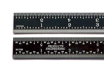 Usa Pec 12 Rigid Black Chrome 16r Machinist Rulerrule 164 132 150 1100