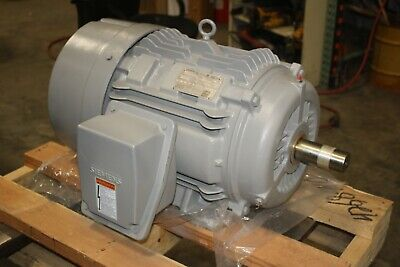 New Siemens 20 Hp Premium Efficiency Electric Motor 1180 Rpm 386t 460v