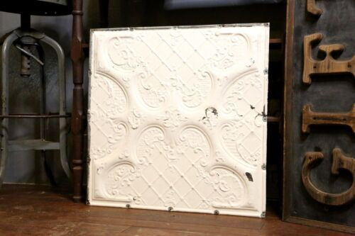 Antique Ceiling Tile Tin Wall Collage White Vintage Kitchen Victorian embossed