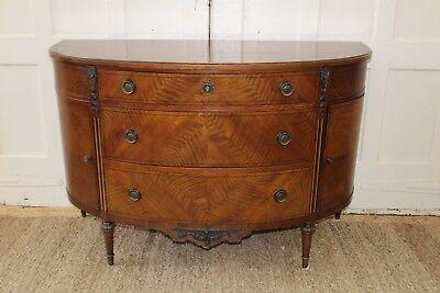 Antique John Widdicomb Demilune Cabinet/Chest