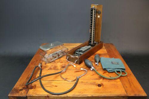 Accoson Sphygmomanometer Blood Pressure Fitzwell Stethoscope Vintage Doctor 50s
