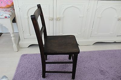 Vintage Child's Infants School Chair post war era.