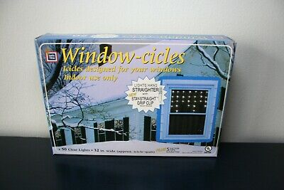 "Santa Trim Window-Cicles Clear Icicle String Lights 32"" Window Indoor Use Only"