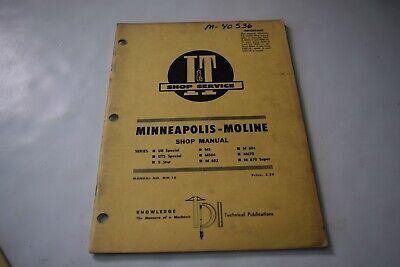 It Shop Service Minneapolis-moline Ub Special Uts Special 5 Star M5 M504 Manual