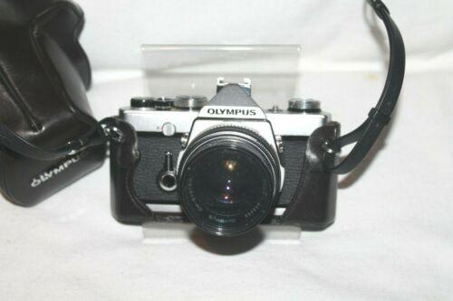 Vintage Olympus OM-1 MD 35mm SLR Film Camera with extras