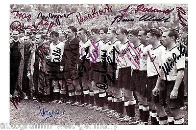 Fussball Weltmeister 1954 23 Autogramme Deutschland