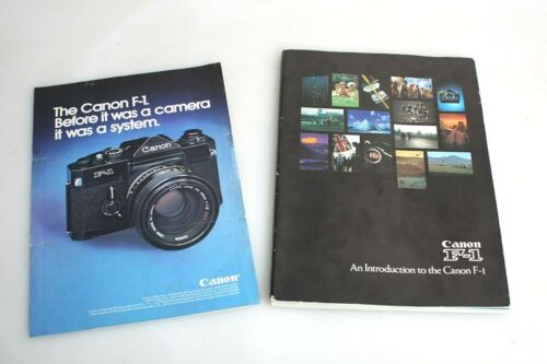 Set of 2 Collectible Canon F-1 Brochures