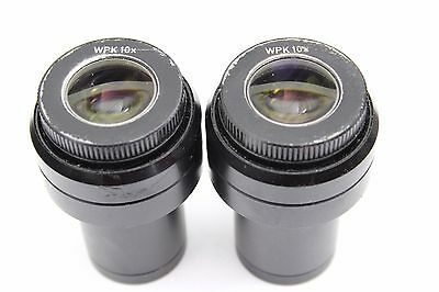 Pair Reichert Leica Polyvar Polylite Wpk 10x Microscope Eyepieces