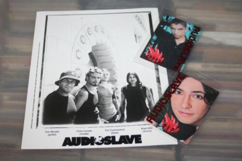 Audioslave - Promo Publicity Photo + 2 Laminated backstage Passes Chris Cornell