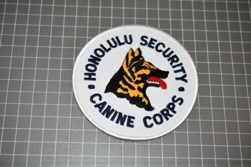 Honolulu Security Canine Corps Patch (S03-1)