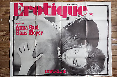 Hot! EROTIQUE Sexploitation Adult Movie poster 30x40 Vintage EroticaDesign 1969 ](Adults Hot Movies)