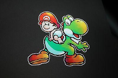Baby Mario and Yoshi Sticker Decal Nintendo (Yoshi And Baby Yoshi)