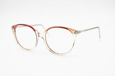 INDO women frame Spain Clear & Red cat eye frame, Vintage women 1980s, NOS 1980s