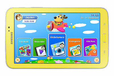Samsung Galaxy Tab 3 SM-T2105 Kids 8GB, Wi-Fi, 7in - Yellow - Tested