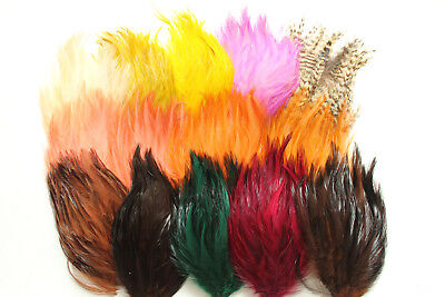 (Hackle feather pads 5561  NOS vintage millinery trims 1920s)