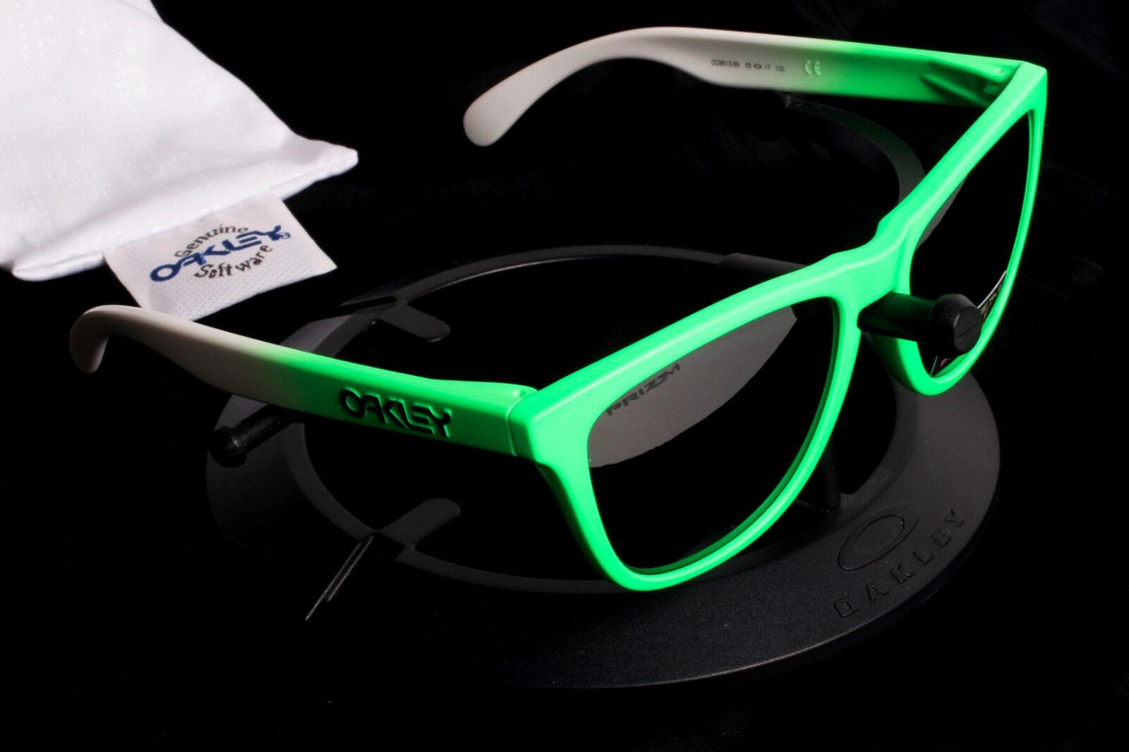 49efab5d10 Oakley Frogskins Neon Green   White Sunglasses Prizm Polarized Lenses -  9013-99 아이템 넘버  283003585500.