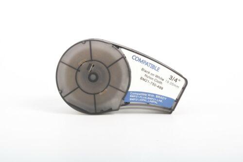 """NEW Brady Compatible Label Cartridge M21-750-499 Black/White Nylon 3/4"""" x 16"""