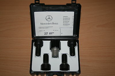 black Felgen Rad Satz Sicherung ori Mercedes Radsicherung schwarz PKW M14x1,5x27