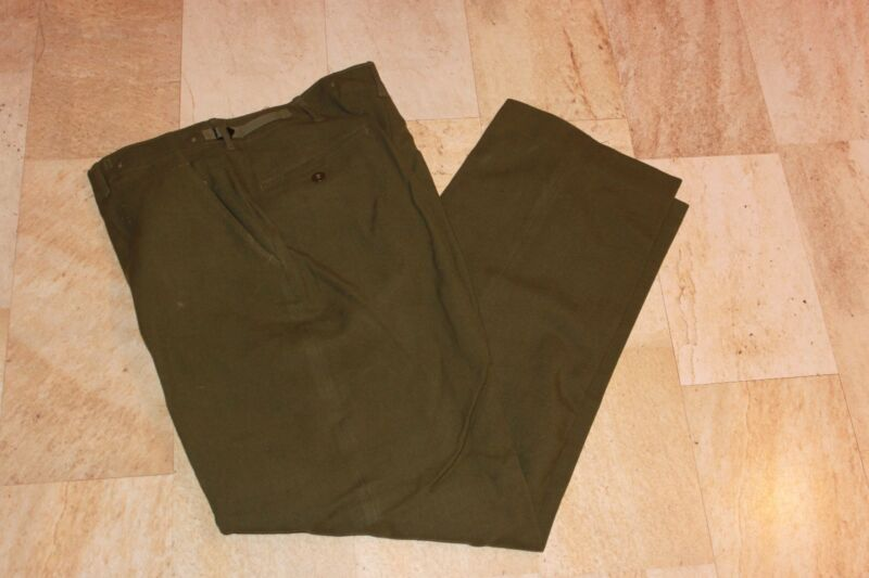 Military Surplus, New, Korean War Era, Wool Field Pants, Medium Long