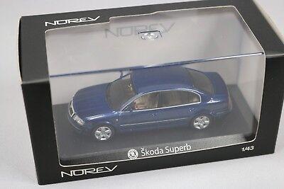 ZC784 Norev 840612 Miniature Voiture 1/43 Gamme Collection Skoda Superb Bleu