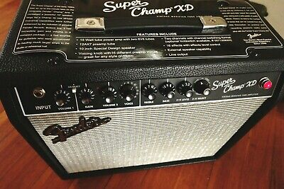 Fender Super Champ XD Tube Combo Guitar Amp Amplifier 1x10 Great Cond