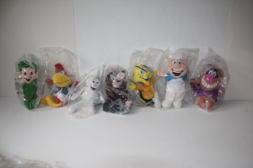 1997 General Mills Breakfast Babies Stuffed Toys Set of 7 Complete NEW SEALED
