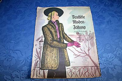 "Original ""Deutsche Moden Zeitung""1938 Heft1 Mode Zeitschrift Zeitung nicht kompl"