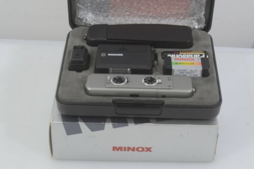 MINT BOXED MINOX TLX-SET #60683, CASE, FLASH, STRAP, FILM, NEVER USED