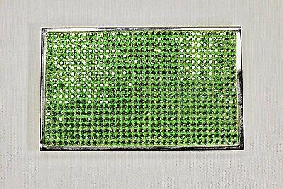 Peridot Green Business Card Holder Crystallized Metal Case W Swarovski Crystals