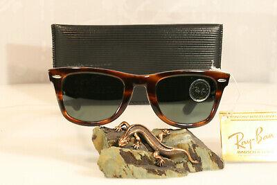 Original vintage B&L Ray-Ban Bausch & Lomb USA Wayfarer 5024 tortoise brown