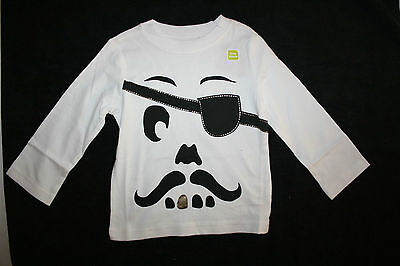 Halloween Crazy 8 (New Crazy 8 Boys Halloween Funny Pirate Mustache Gold Tooth Top NWT4t)