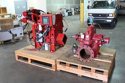 Cummins Firepower Mod. CFP5E-F40, A-C Fire Pump Split Case 3934 2000 GPM 15hrs