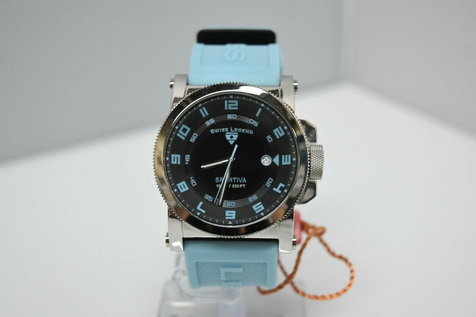 Swiss Legend Sportiva 45mm SL-40030 Watch Baby Blue/Black